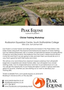 Peak Equine - Clicker Training Workshop @ southstaffordshire college